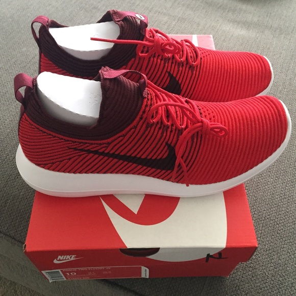7187d401ca2ed Nike Roshe Two Flyknit V2 Red Shoes Men s 10 - NWB